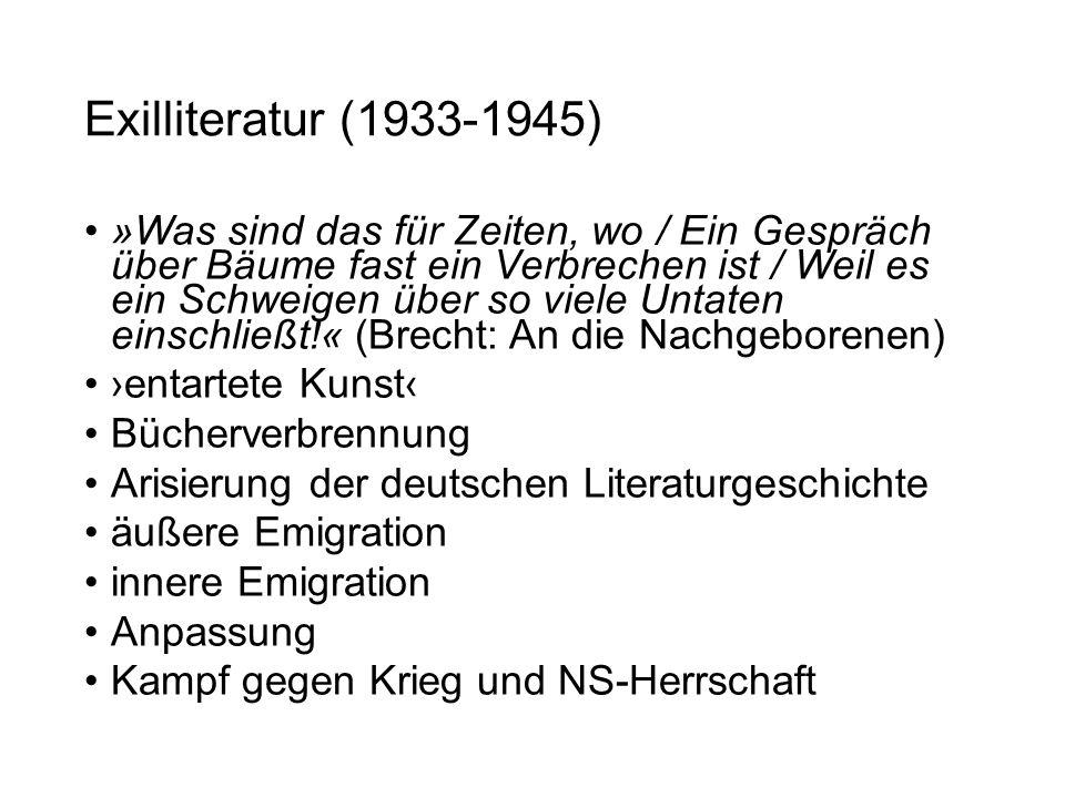 Exilliteratur (1933-1945)