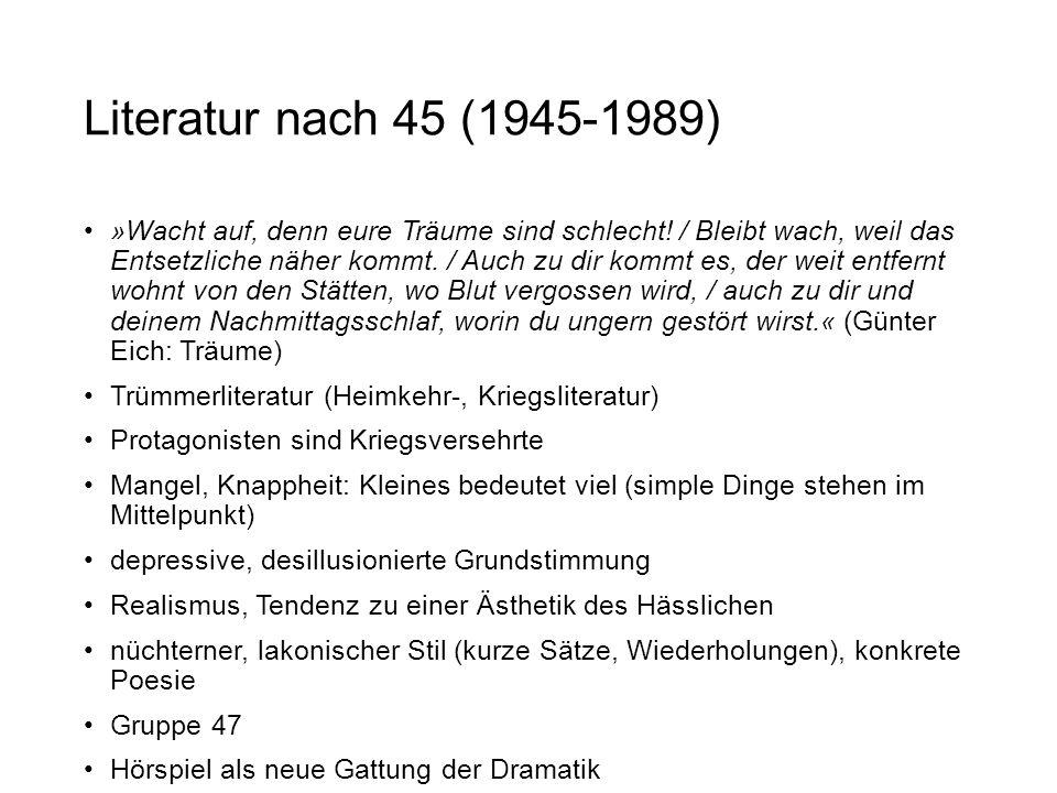 Literatur nach 45 (1945-1989)