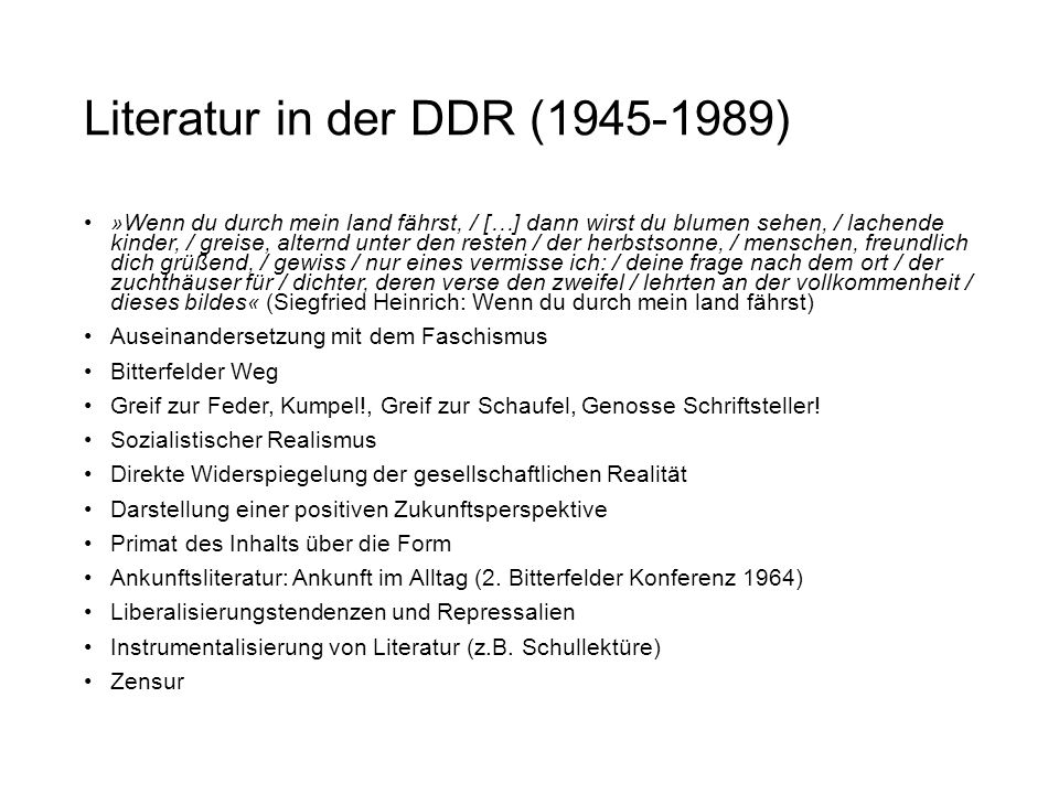 Literatur in der DDR (1945-1989)
