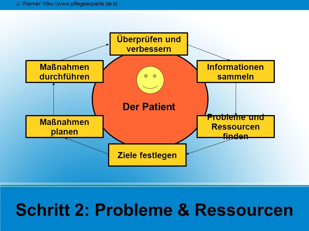 Schritt 2: Probleme & Ressourcen