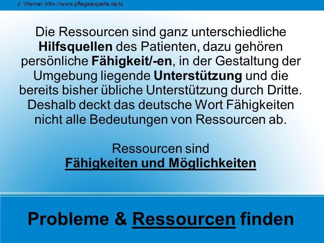Probleme & Ressourcen finden