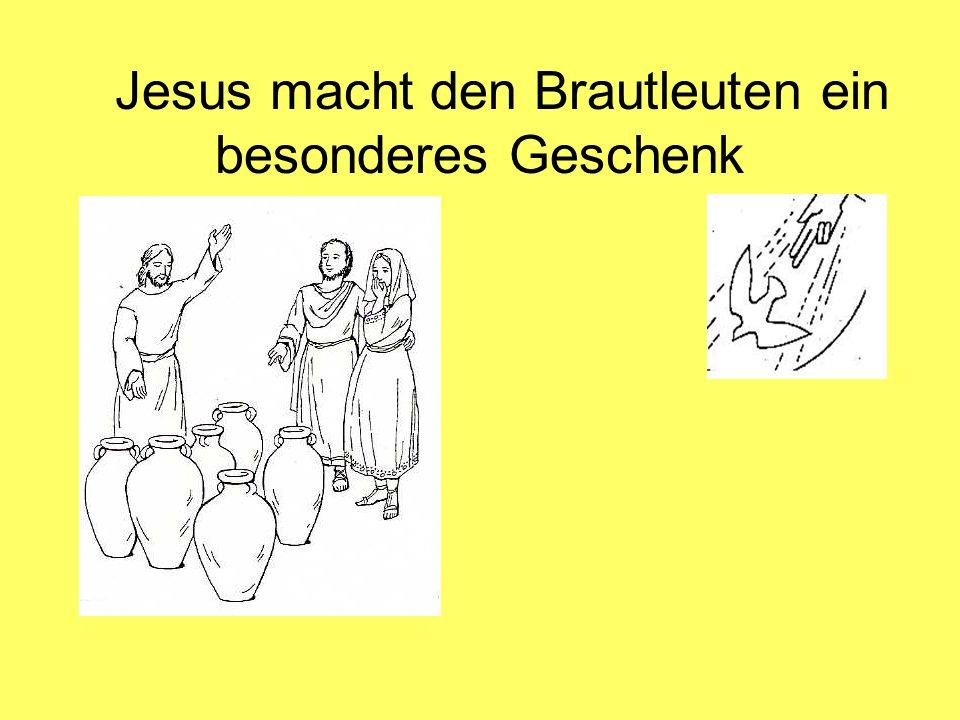 Jesus macht den Brautleuten ein besonderes Geschenk