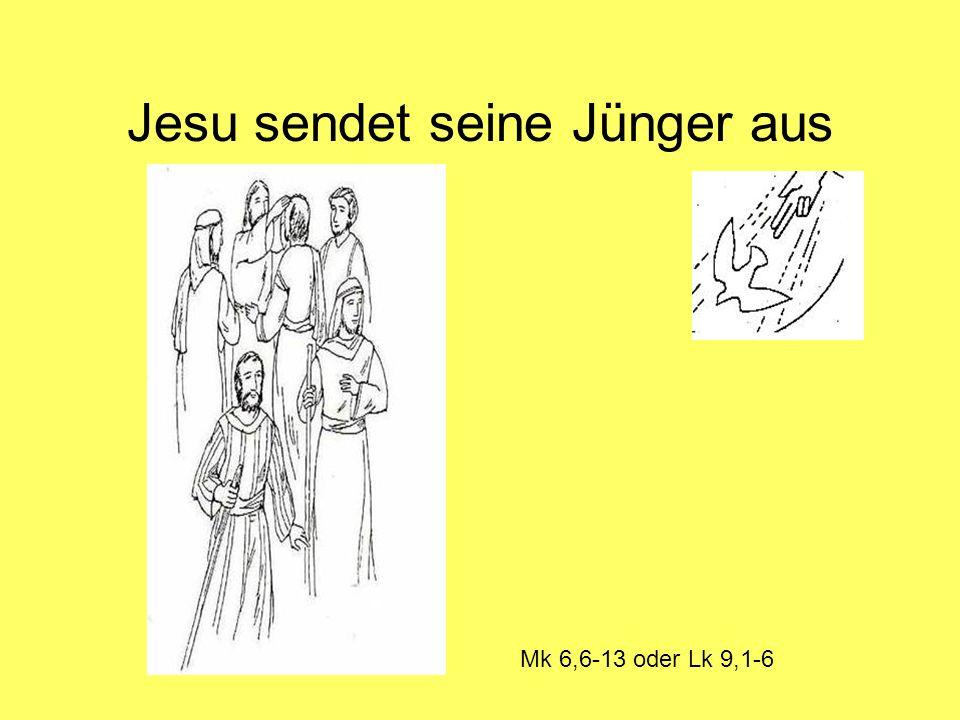 Jesu sendet seine Jünger aus