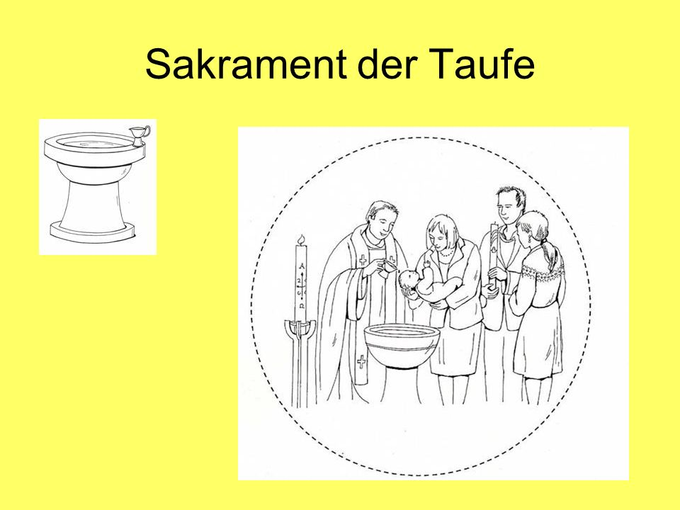 Sakrament der Taufe Unterrichtsmodell: Text Hinwendung Jesu zu einem Menschen = Zuwendung Gottes im Sakrament.