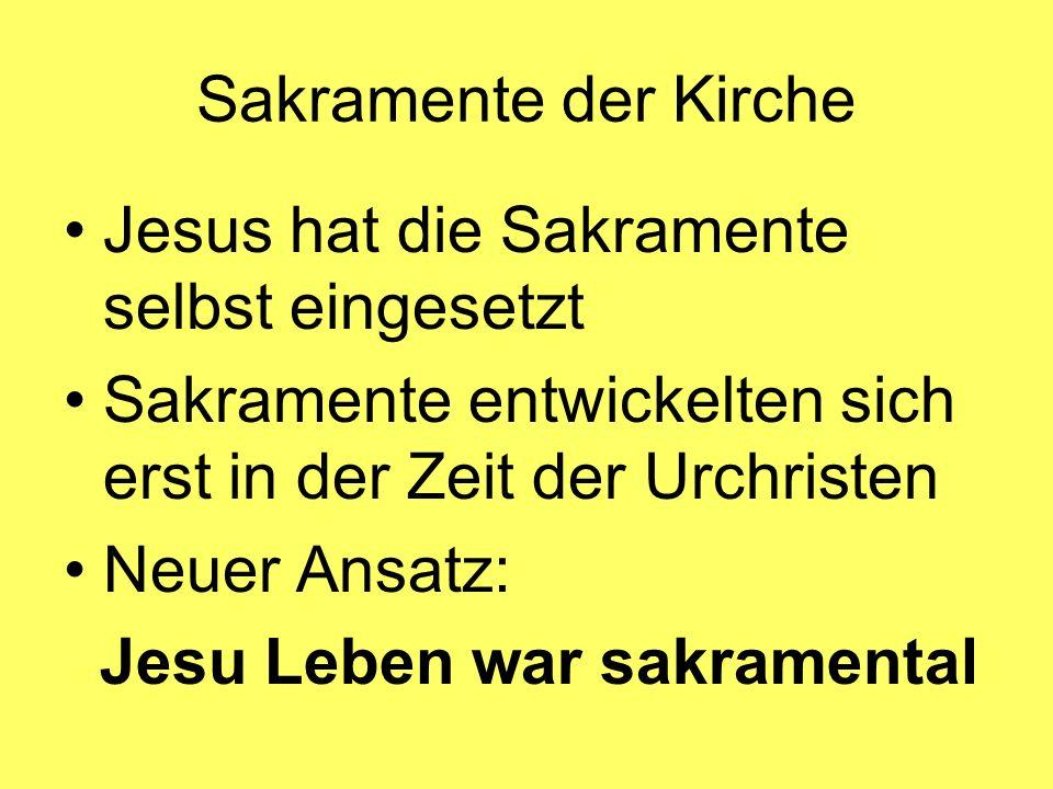 Jesus hat die Sakramente selbst eingesetzt