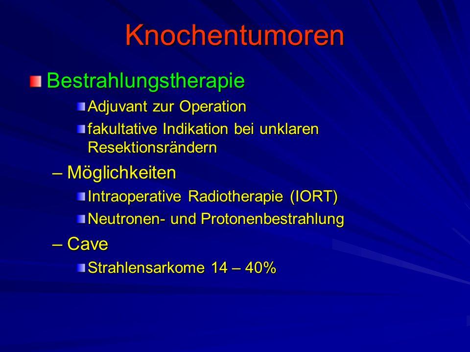 Knochentumoren Bestrahlungstherapie Möglichkeiten Cave