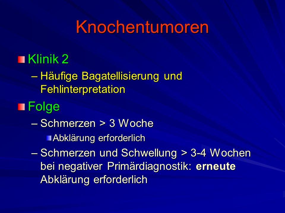 Knochentumoren Klinik 2 Folge