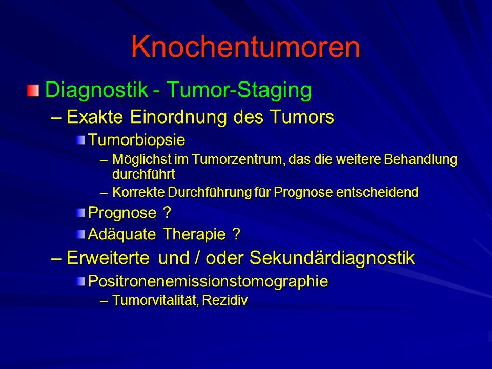 Knochentumoren Diagnostik - Tumor-Staging Exakte Einordnung des Tumors