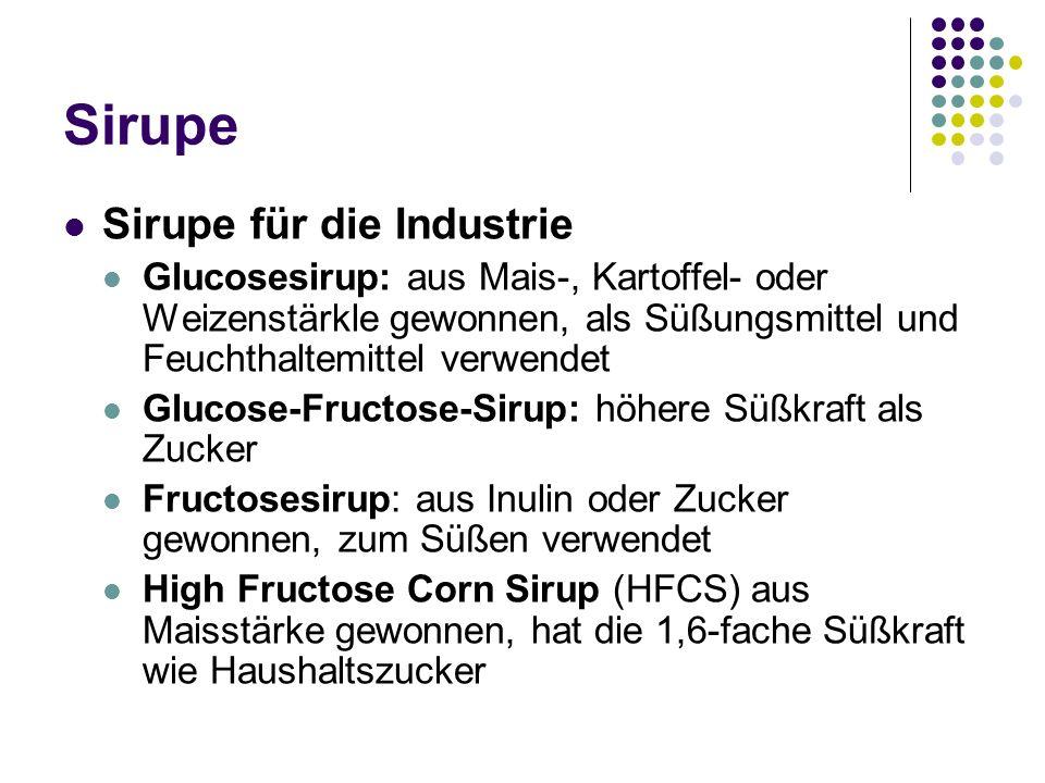 Sirupe Sirupe für die Industrie