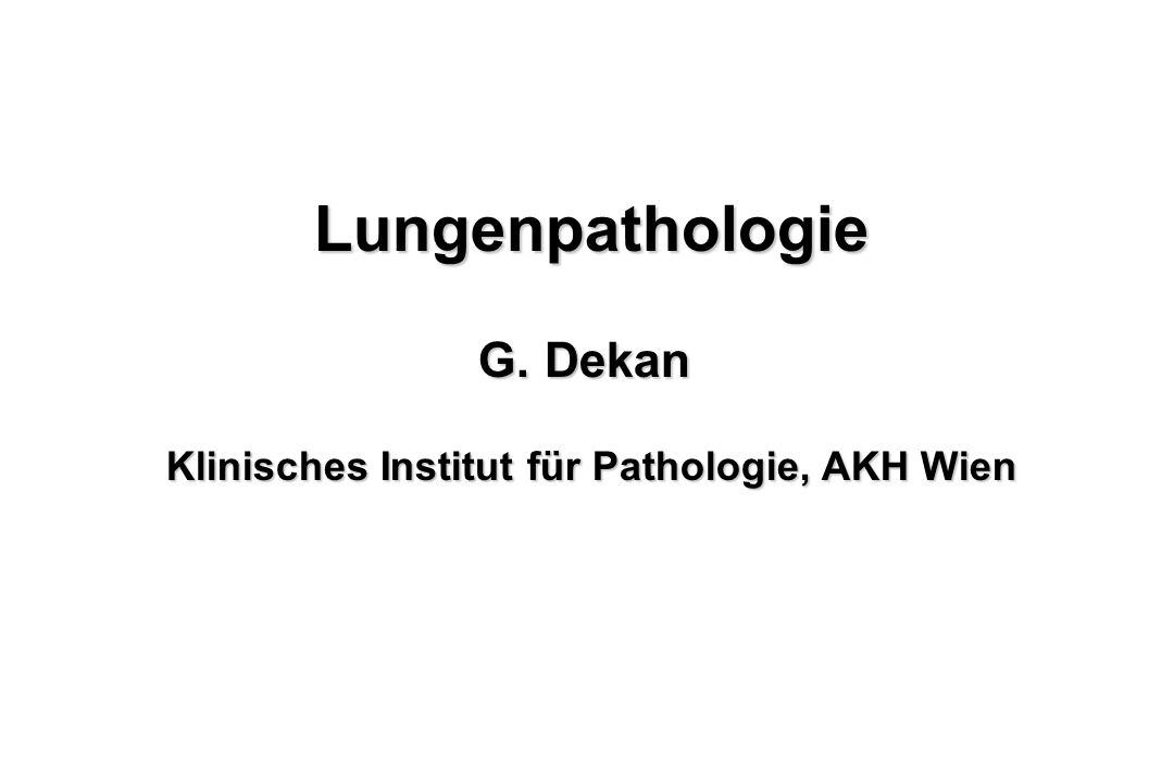 Klinisches Institut für Pathologie, AKH Wien