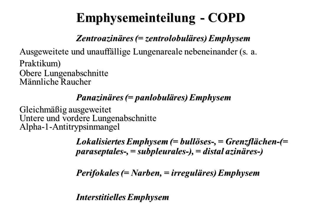Emphysemeinteilung - COPD