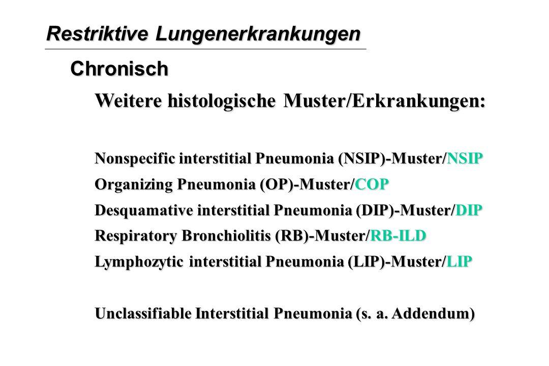 Restriktive Lungenerkrankungen Chronisch