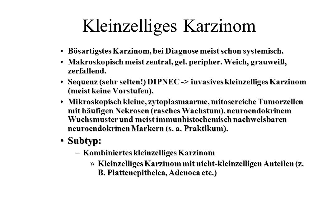 Kleinzelliges Karzinom