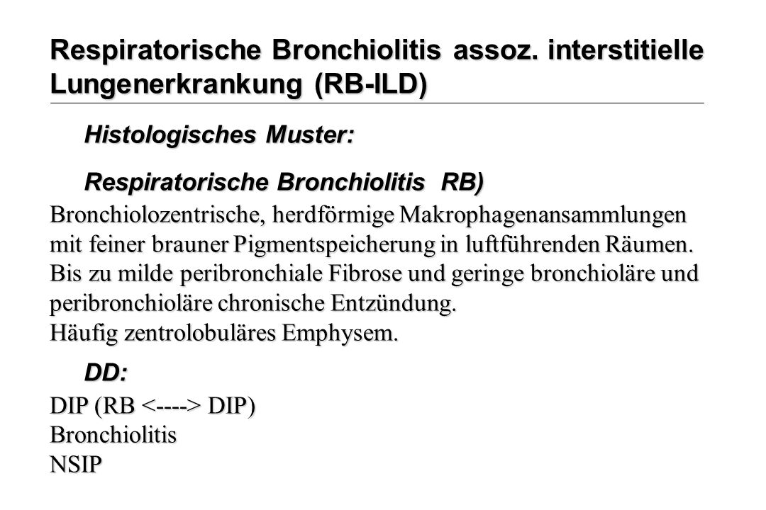 Respiratorische Bronchiolitis assoz
