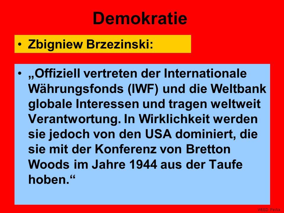 Demokratie Zbigniew Brzezinski: