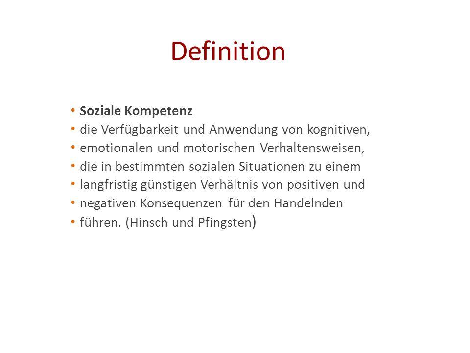 Definition Soziale Kompetenz