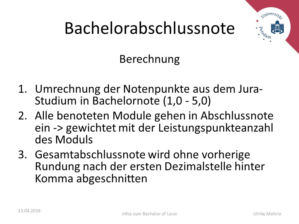 Bachelorabschlussnote