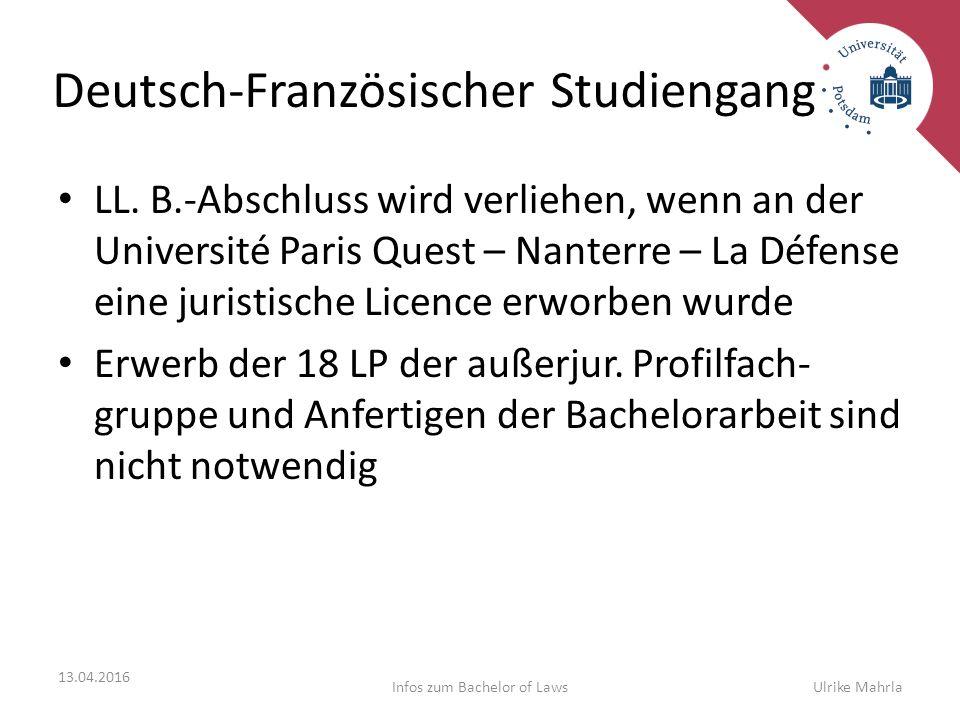 Deutsch-Französischer Studiengang