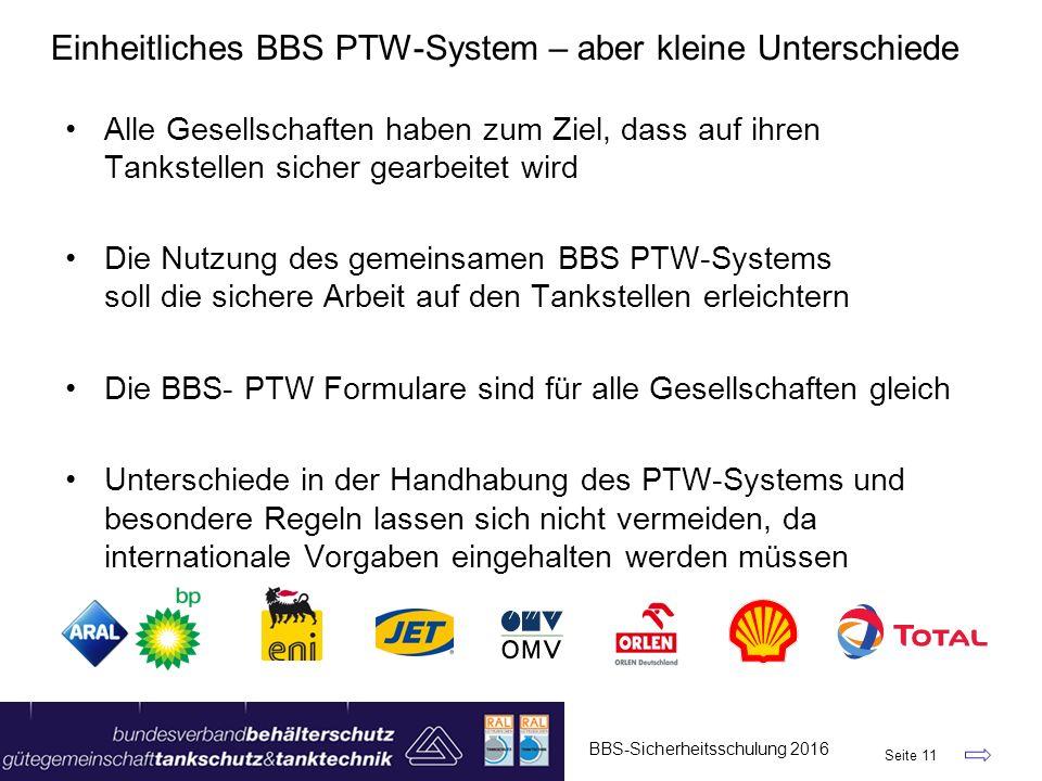 Einheitliches BBS PTW-System – aber kleine Unterschiede