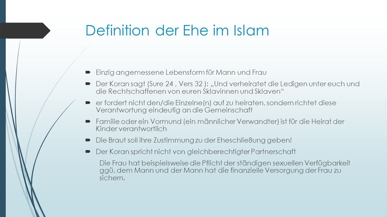 Definition der Ehe im Islam