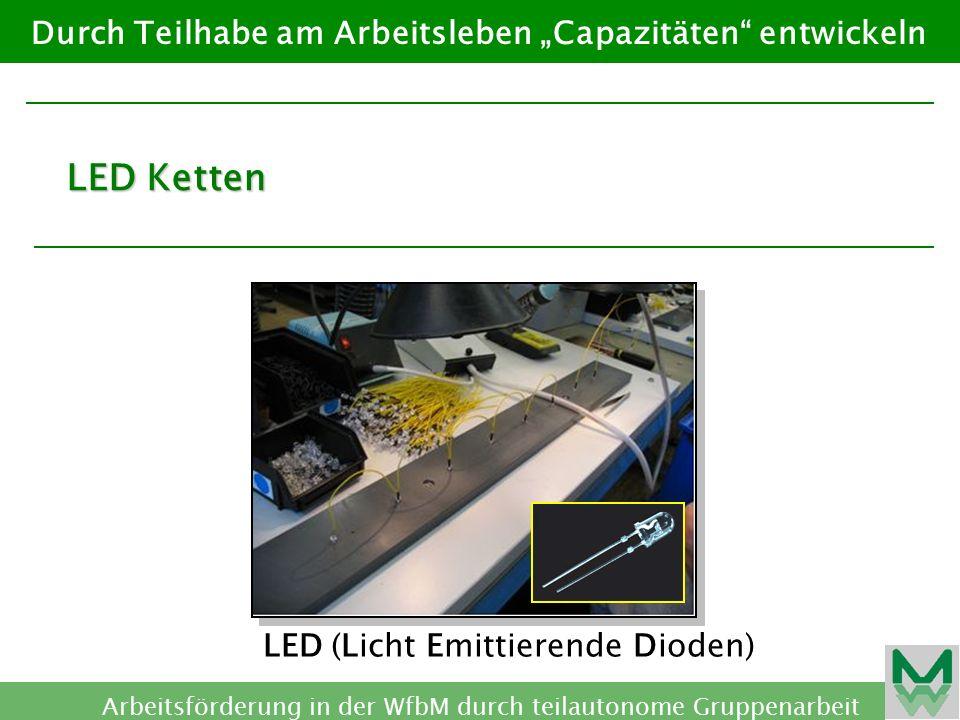"""LED Ketten Durch Teilhabe am Arbeitsleben """"Capazitäten entwickeln"""