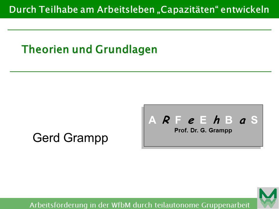 Gerd Grampp Theorien und Grundlagen A R F e E h B a S