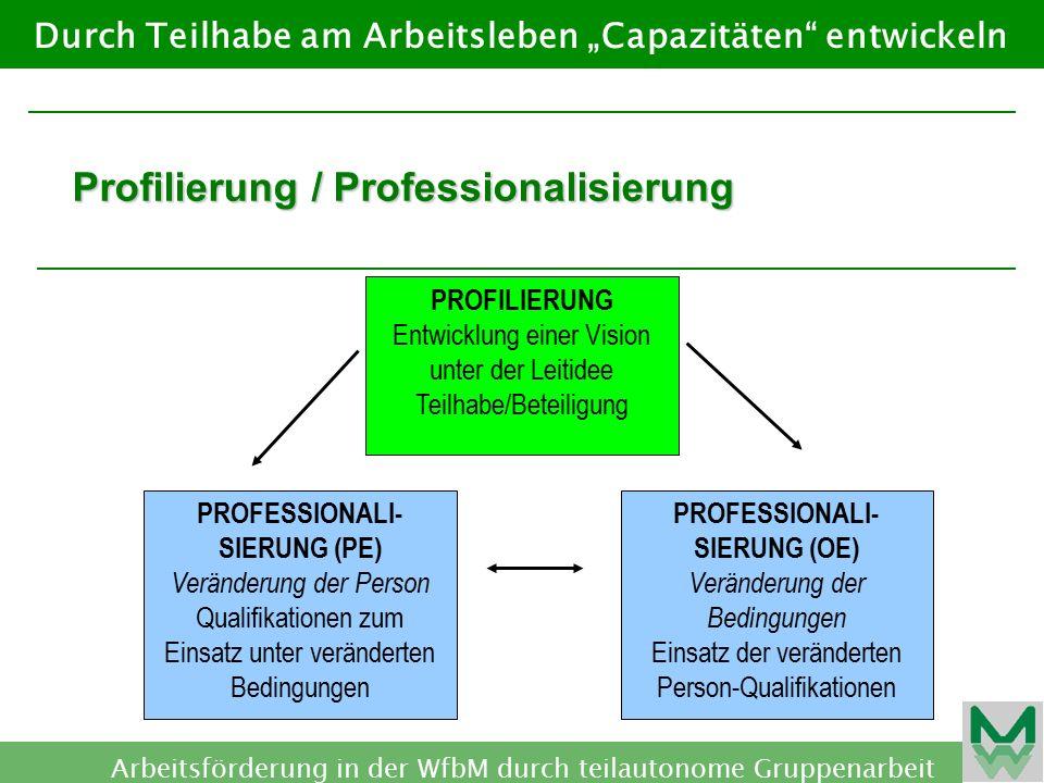 PROFESSIONALI-SIERUNG (PE) PROFESSIONALI-SIERUNG (OE)