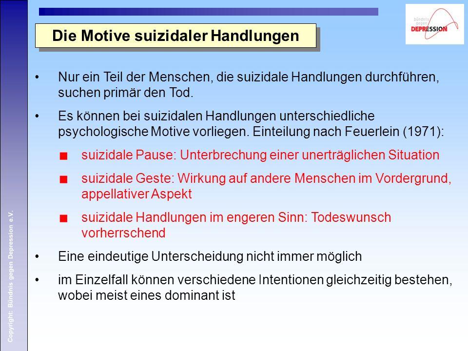 Die Motive suizidaler Handlungen