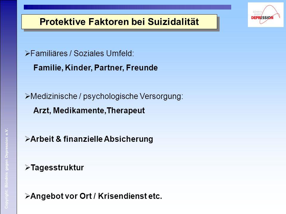 Protektive Faktoren bei Suizidalität