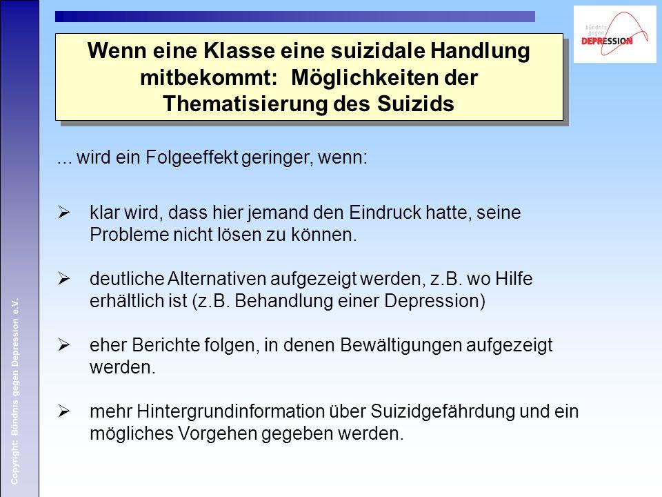 Wenn eine Klasse eine suizidale Handlung mitbekommt: Möglichkeiten der Thematisierung des Suizids