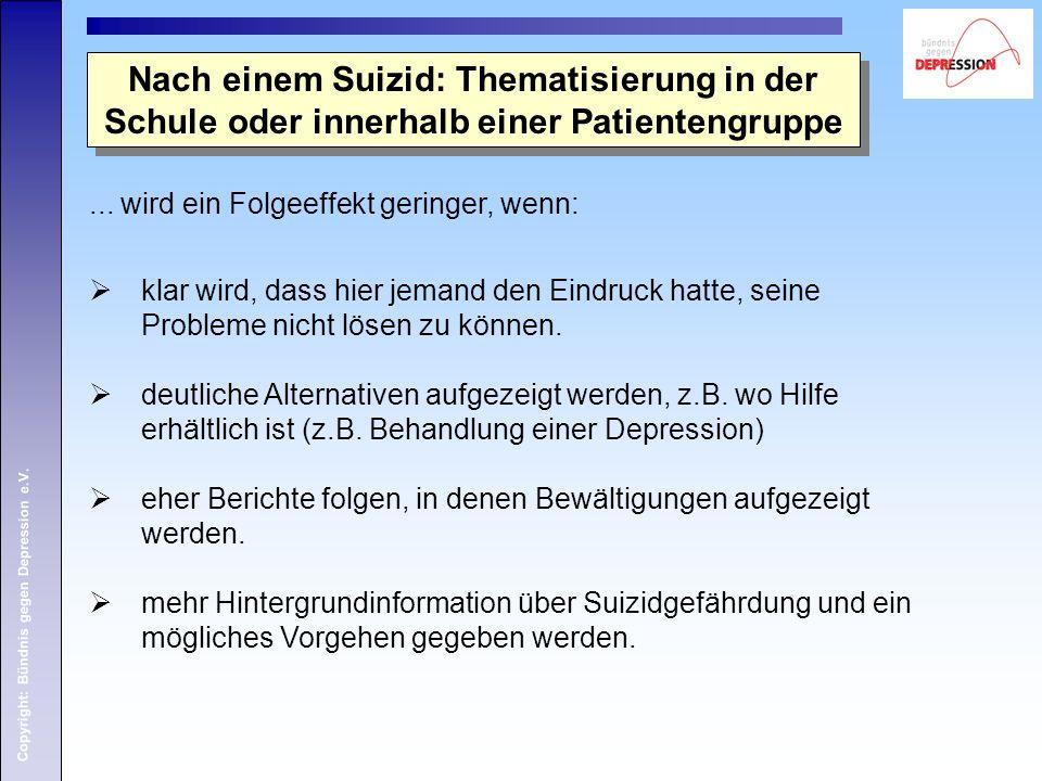 Nach einem Suizid: Thematisierung in der Schule oder innerhalb einer Patientengruppe