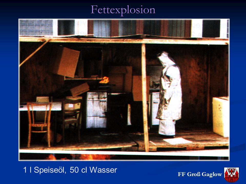 Fettexplosion 1 l Speiseöl, 50 cl Wasser