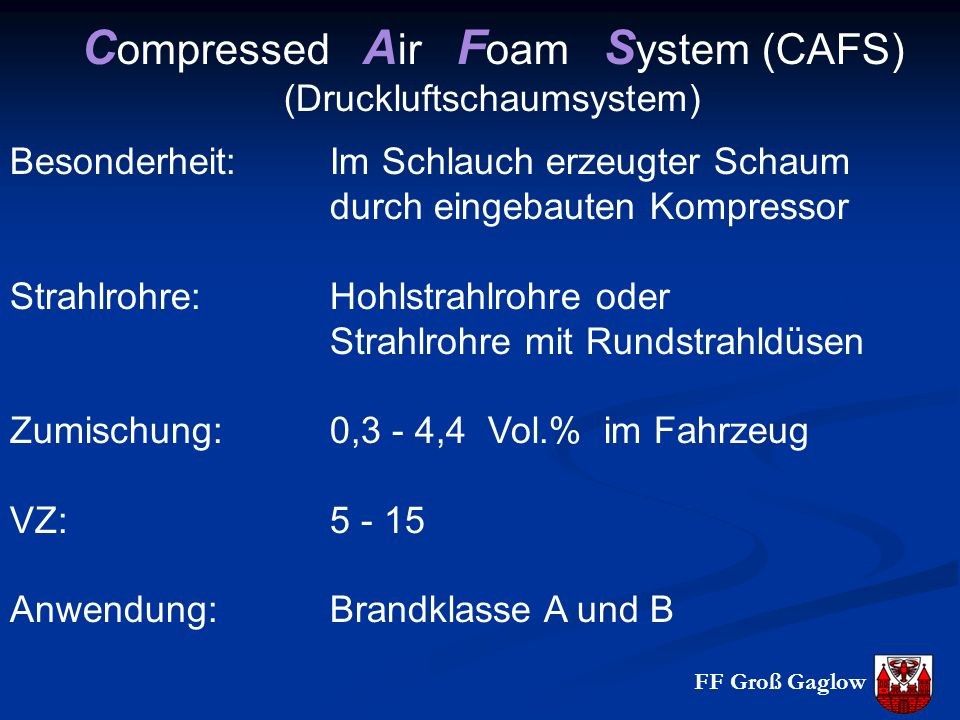 Compressed Air Foam System (CAFS)