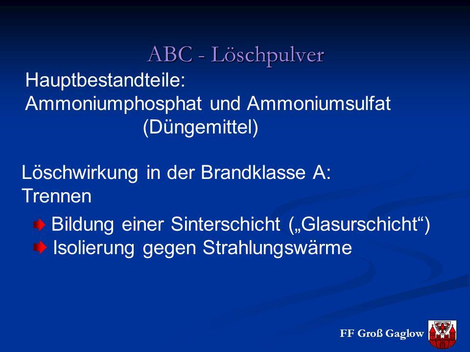 ABC - Löschpulver Hauptbestandteile: