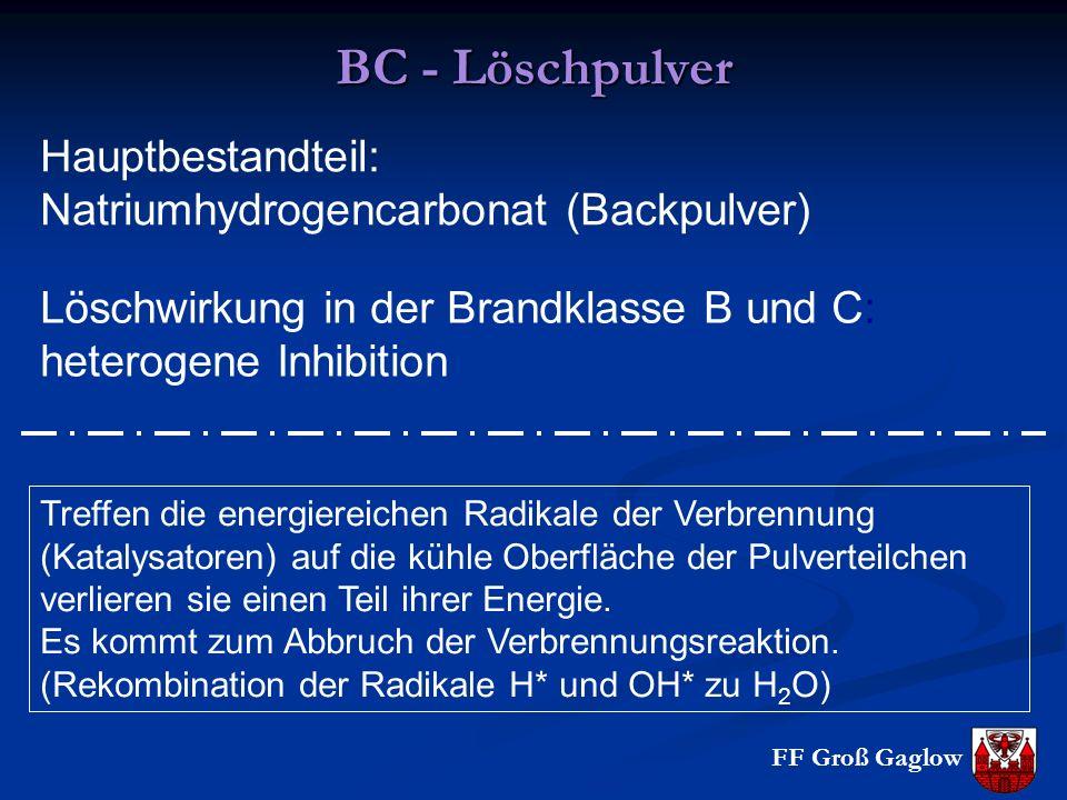 BC - Löschpulver Hauptbestandteil: