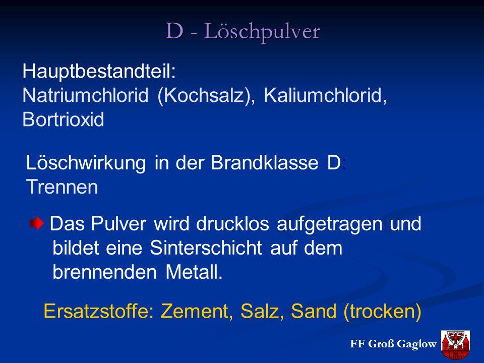 Ersatzstoffe: Zement, Salz, Sand (trocken)