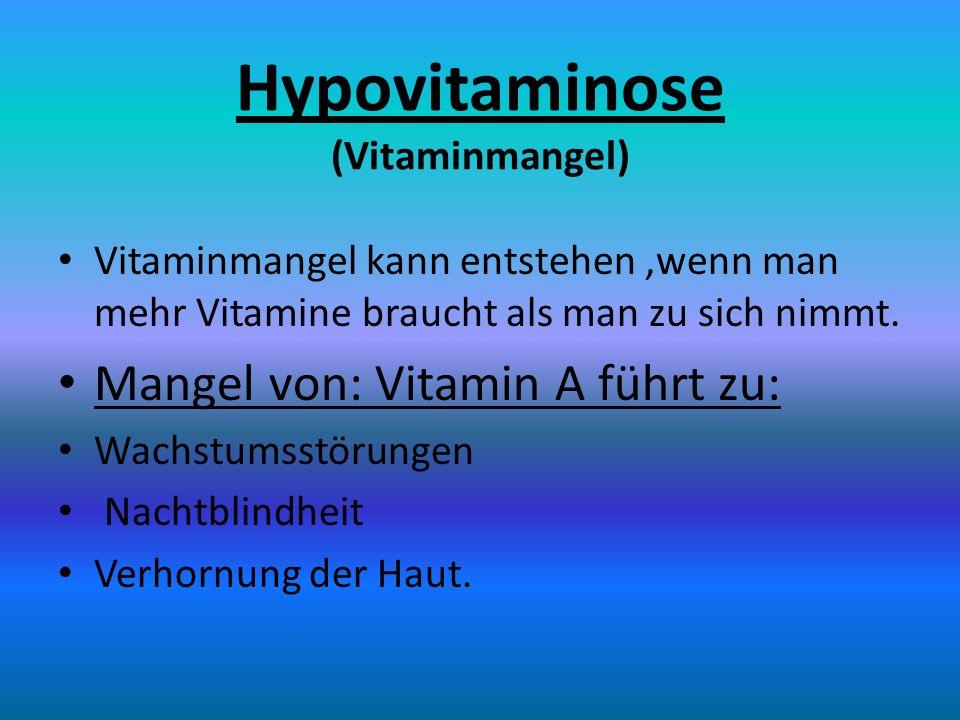 Hypovitaminose (Vitaminmangel)