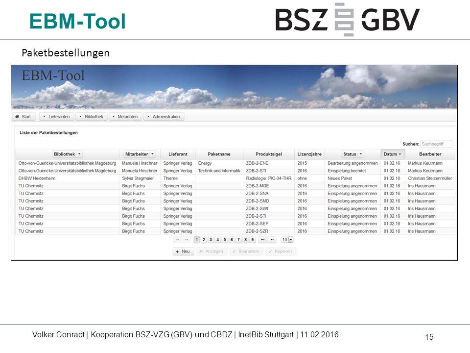 EBM-Tool Paketbestellungen