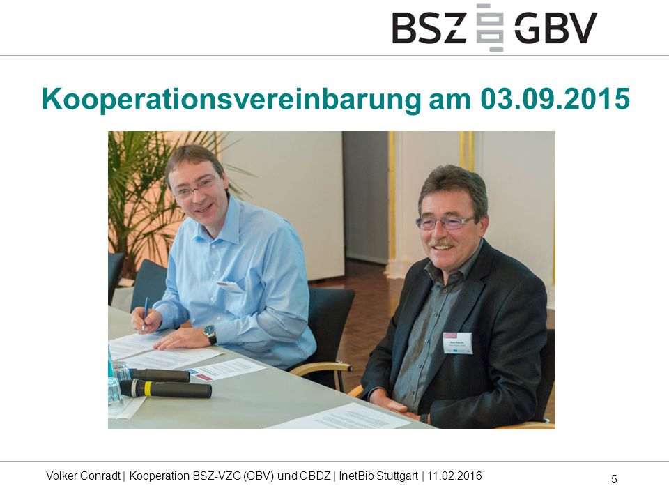 Kooperationsvereinbarung am 03.09.2015