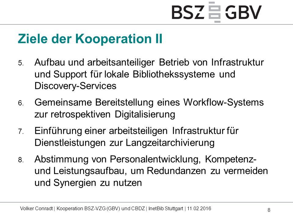 Ziele der Kooperation II