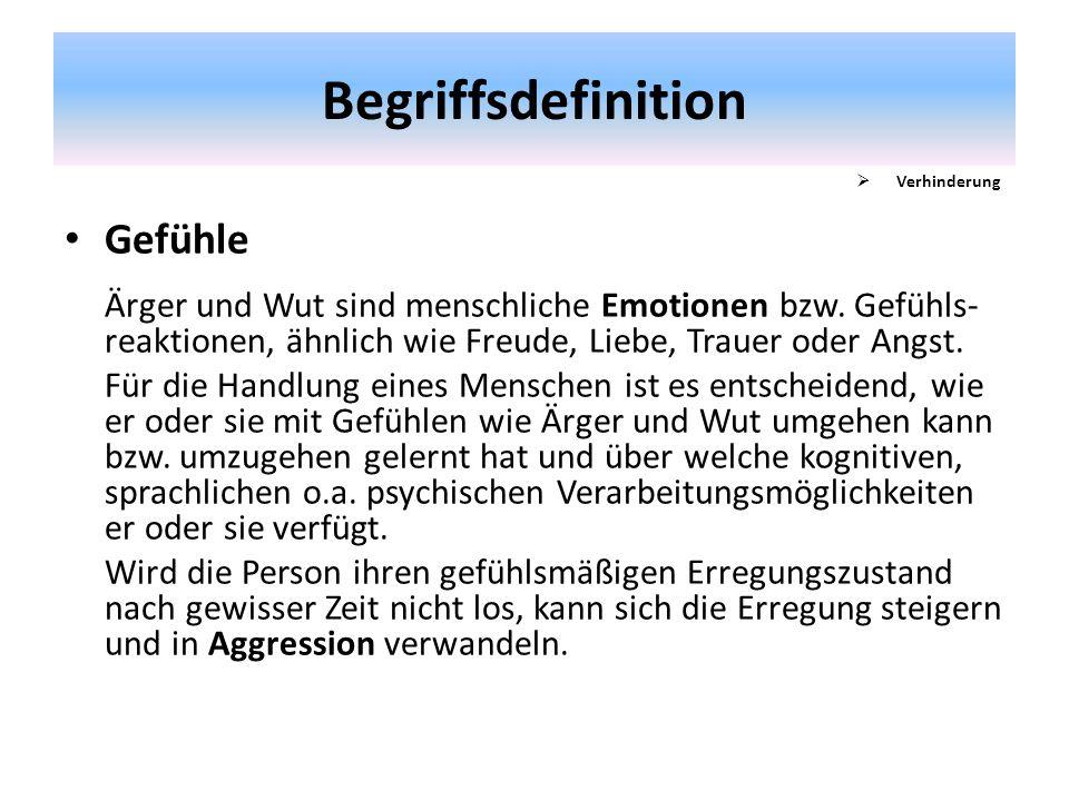 Begriffsdefinition Gefühle