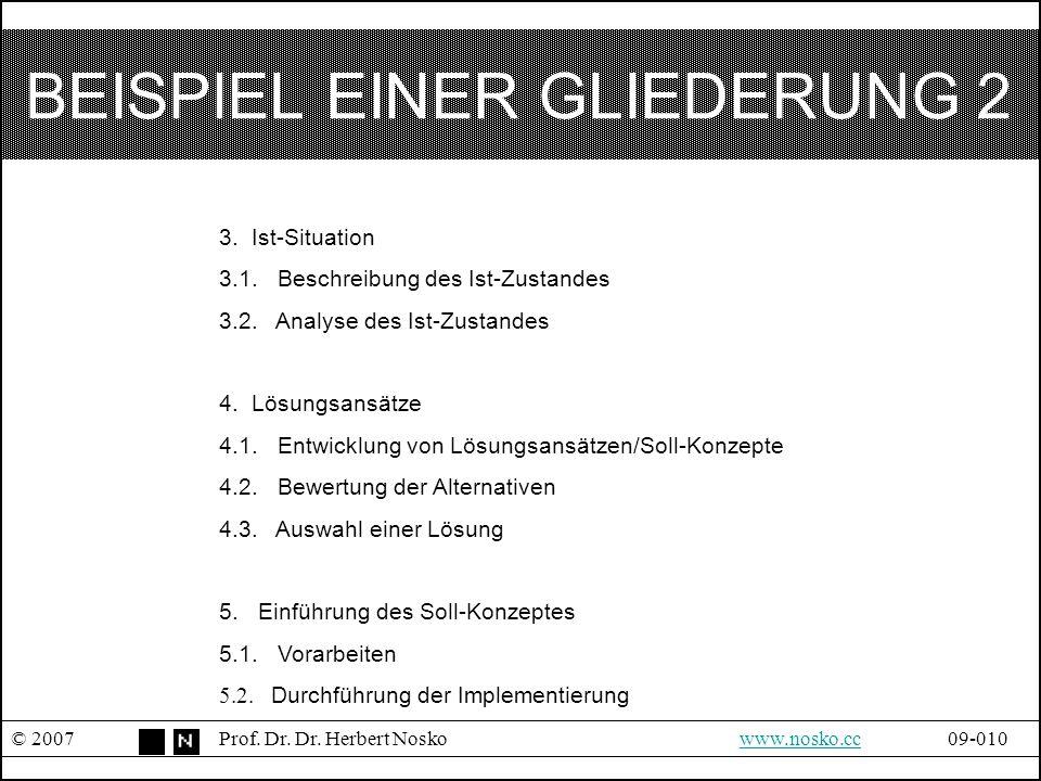 BEISPIEL EINER GLIEDERUNG 2