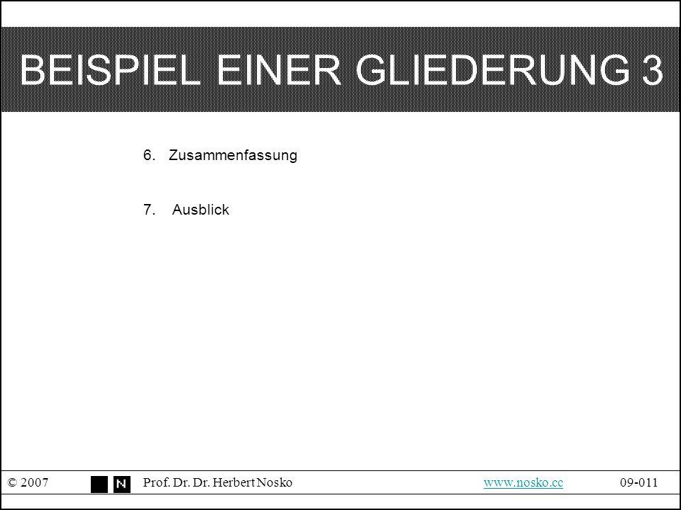 BEISPIEL EINER GLIEDERUNG 3