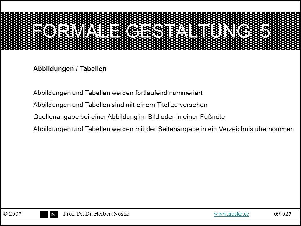 FORMALE GESTALTUNG 5 Abbildungen / Tabellen