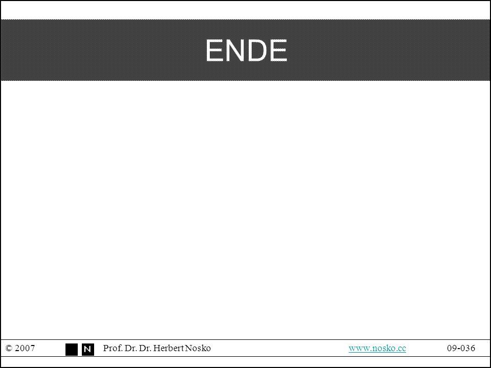 ENDE © 2007 Prof. Dr. Dr. Herbert Nosko www.nosko.cc 09-036