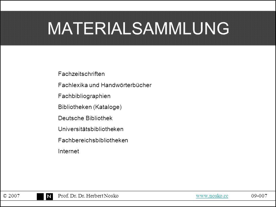 MATERIALSAMMLUNG Fachzeitschriften Fachlexika und Handwörterbücher
