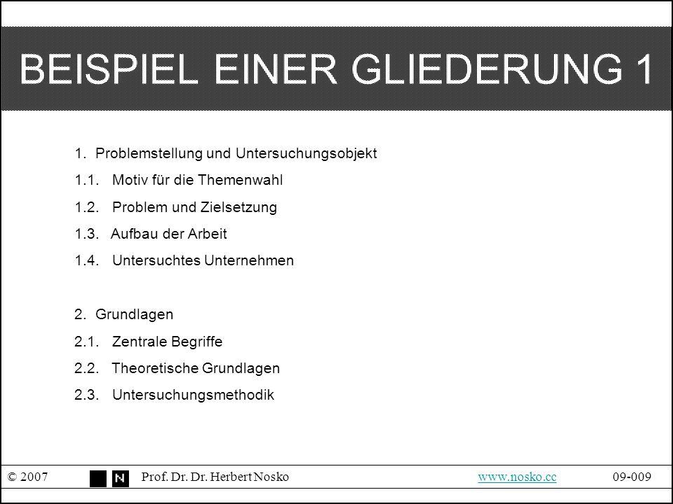 BEISPIEL EINER GLIEDERUNG 1