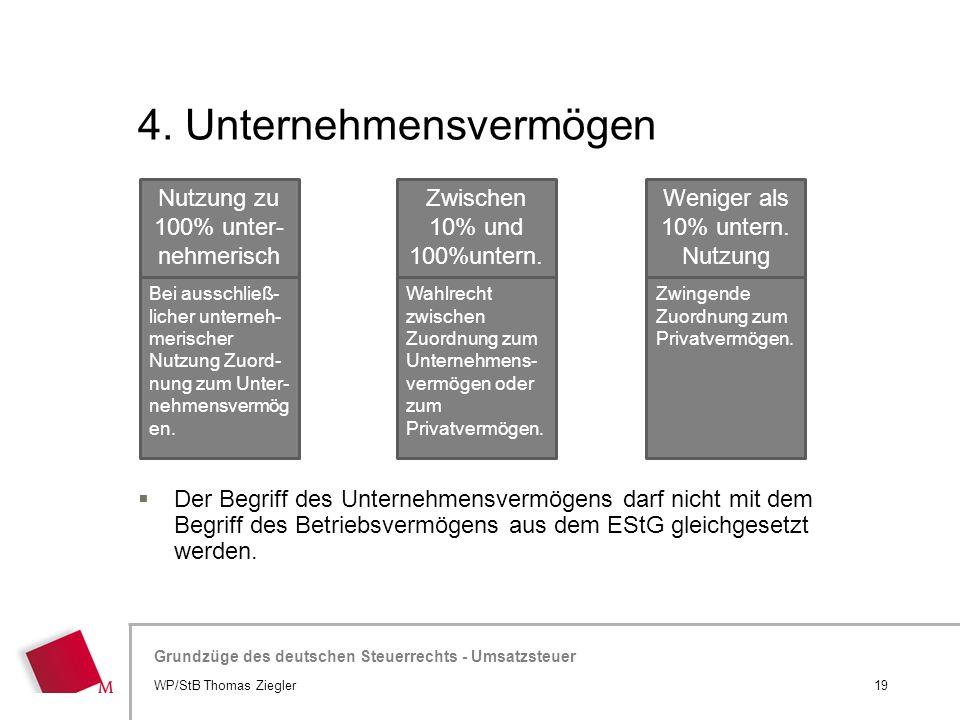 4. Unternehmensvermögen