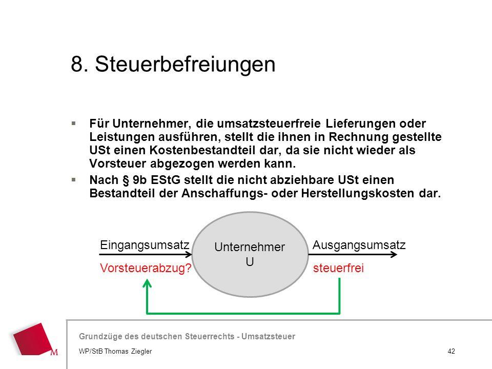 8. Steuerbefreiungen