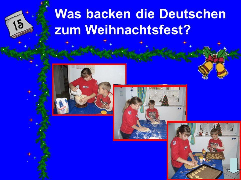 Was backen die Deutschen zum Weihnachtsfest